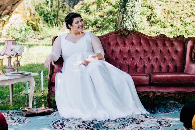 choisir une robe de mariée grande taille