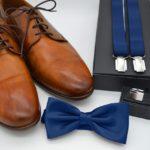 Accessoires du marié : ceintures ou bretelles?